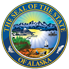 Department, Divisions or State of Alaska logo, color scheme